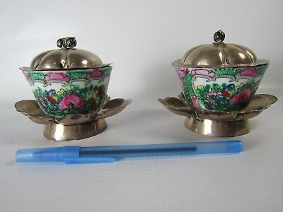 Rare Pair of Silver Tea Ware Trays With Lids The Late Qing Dynasty Period