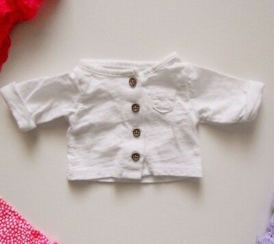 Carter's Baby Newborn Cotton Cardigan Button Up White Size NB