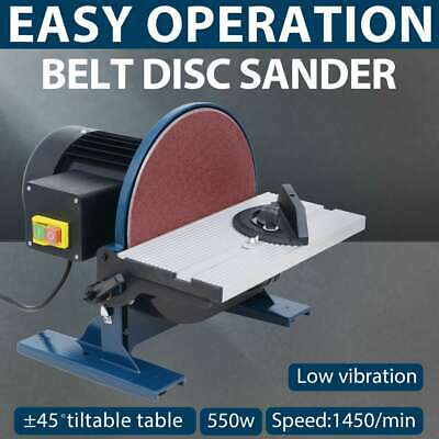 vidaXL Disc Sander 550W 254mm Sanding Grinding Shaping Work Power Tool Edges