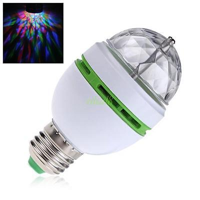 E27 RGB 3W 85-260V LED PARTYLEUCHTE VOLLE FARBE ROTIERENDE DISCO Effizient LAMPE