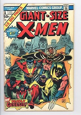 Giant Size X-Men #1 Very Nice Mid Grade 1st App of Storm Colossus Nightcrawler