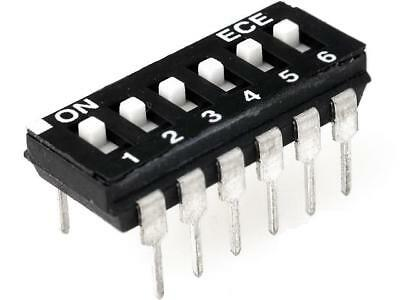 2x EAH106E Switch DIP-SWITCH Poles number6 ON-OFF 0.1A/24VDC -25÷70°C