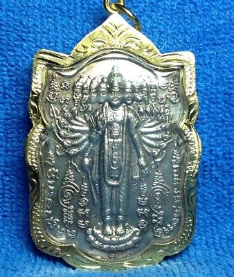 Thai Amulet Hindu Strong Powerful Life Protection God Kali Stand On Lotus Flower