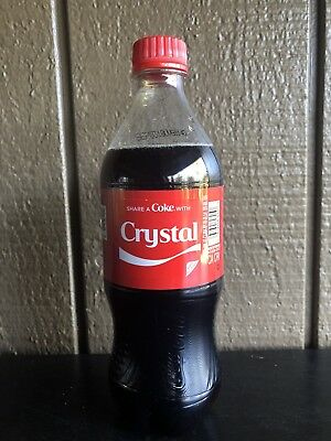 Share A Coke With Crystal 20 oz Coca Cola Collectible Bottle Free Shipping
