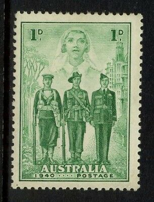 1940 Australian Imperial Forces 1d Green MLH SG 196 F54