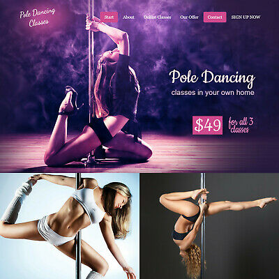 Pole Dancing Fitness Internet Website Business For Sale Womens Workout Training