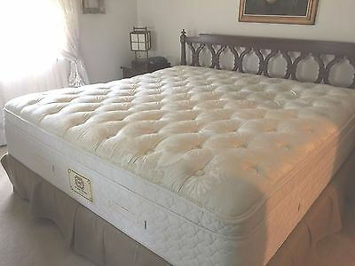 Sterns And Foster >> Stearns Foster King Mattress Pillow Top Luxury Box Spring