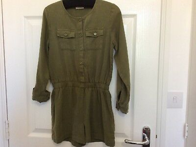 Next girls green distressed cool tencel playsuit age 9