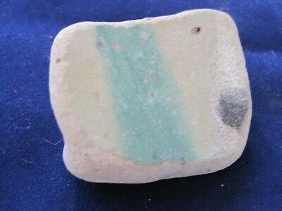 Stone w Green Stripe  ROMAN ARTIFACT