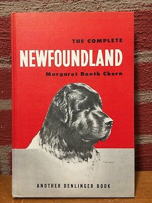 Vintage Dog Book - The Complete Newfoundland by Margaret Booth Chern