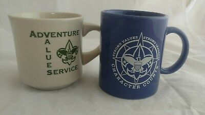 Set of 2 Boy Scout's Mugs, Friends of Scouting, 1999, Character Counts