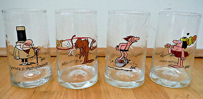 (4) Vintage B.C. Ice Age & Wizard of Id Comics Arby's Collector Glasses Hart