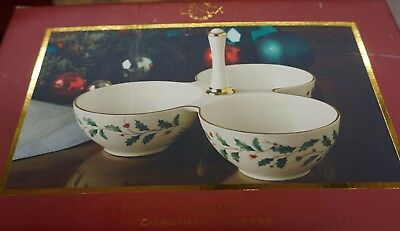 Lenox Holiday  Condiment Server. New In Box. Free Shipping
