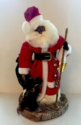 OOAK Artist Handmade Santa Claus Father Christmas Doll Primitive Folk Art Signed