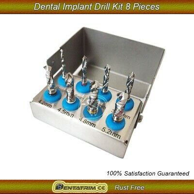 Dental Implant Drills Kit 8 Pcs Set Surgical Cutting Tools NEW