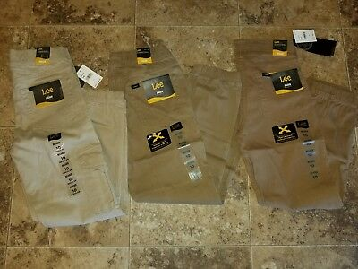 Nwt Boys Lee Jogger Relaxed Fit Khaki Pants Stretch Brown 8 10 12 14 16