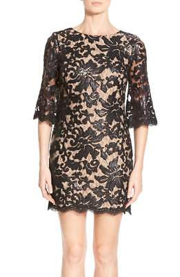 NEW Dress the Population 'Melody' Lace Shift Dress in Black - Size M