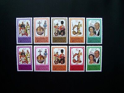 Grenada Stamps 1977 Year Two Complete Sets, Scott # 788-792. Mlh