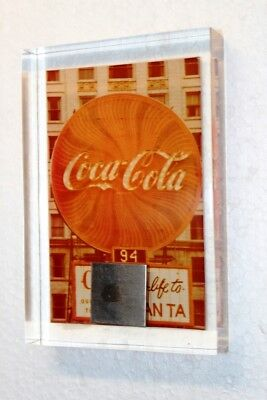 Coca-Cola Acryl Briefbeschwerer 1980er USA paperweight Neon Sign Atlanta #17