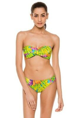 67c358ee23b5c NWT $148 Trina Turk Polynesian Palms Sz 12 Bandeau Top & Sz 10 Shirred  Bottom