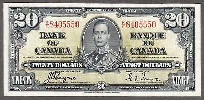 1937 Bank of Canada - $20.00 Bank Note - VF/EF - Coyne Towers K/E 8405550