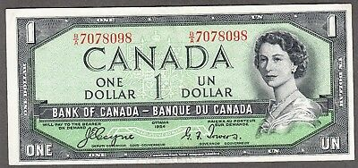 1954 Bank of Canada - $1.00 Devil Face Note - EF - Coyne Towers B/A 7078098