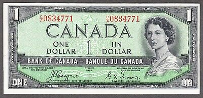 1954 Bank of Canada - $1.00 Devil Face Note - EF - Coyne Towers C/A 0834771
