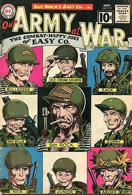 Our Army At War #112 Sgt. Rock Dc Comic Book Nov 1961 (See Scans For Condition)