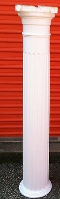 One Fluted Interior Column  Approximately 58 1/2 Inches Wood With Plastic Caps