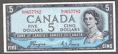 1954 Bank of Canada - $5.00 Devil Face Note - EF - Coyne Towers B/C 0657782