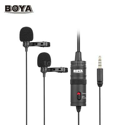 BOYA BY-M1DM Lavalier Dual-Head Microphone for DSLR Camera Camcorder Smartphone