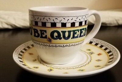 "Mary Engelbreit ""IT'S GOOD TO BE QUEEN"" Tea Cup & Saucer Plate ME Ink Vintage"