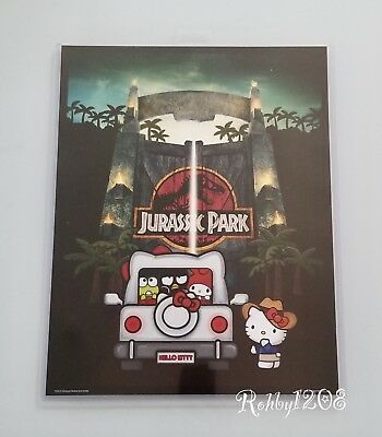 "NEW Exclusive Universal Studios x Hello Kitty Jurassic Park Poster 14"" X 11"""