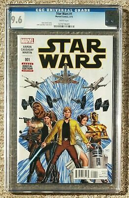 Star Wars #1 - John Cassaday - Marvel Comics 2015 - CGC Grade 9.6 - NM+
