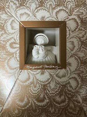 "1985 Margaret Furlong 4"" Seashell Christmas Wreath Angel. New in Box!"