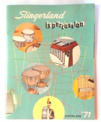 VINTAGE MUSICAL INSTRUMENT CATALOG free ship 1971 SLINGERLAND DRUMS PERCUSSION