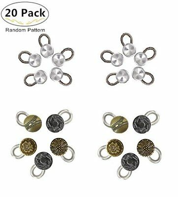 Collar Extenders Magnolora 20 Pack Metal Button Elastic Buttons for Men Women