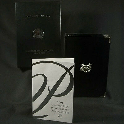 2001-W 4 Coin Proof Platinum American Eagle Box OGP & COA No Coins