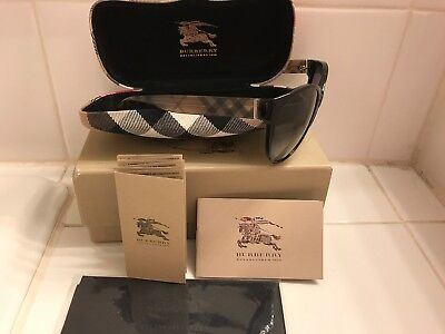 New Women's Burberry Check Pattern 4088 (3001/11) Gray Gradient Lens Sunglasses