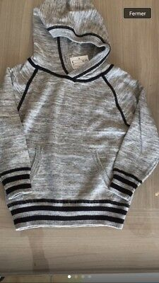 Pull Gris A Capuche 18-24 mois Neuf