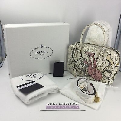 f3eea69c765915 Prada X James Jean Bunny Rabbit Liberty Bauletto Bag Same Style Bag as  Fairy Sm