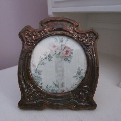 Lovely art nouveau copper & wood photo frame