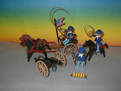 Playmobil 3729-A US-Artillerie Nordstaatler mit Kanone + Protze 1988 ohne OVP