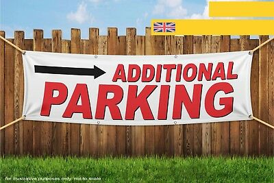 Additional Parking Right Arrow Heavy Duty PVC Banner Sign 3347