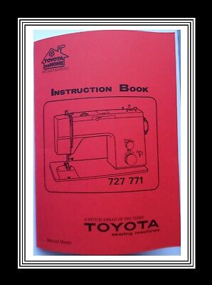 TOYOTA 727 & 771 Flat Bed ZigZag Sewing Machine Instruction Manual Booklet