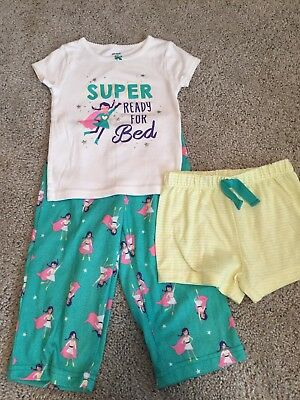 14456f0f4 CARTERS BABY GIRLS 3 Piece Pajamas Set NWT Size 24 Months -  9.99 ...