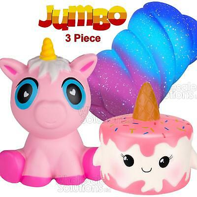 XXL Jumbo 3x Set Slow Rising Squishies Squishy Kids Toy Stress Reliever Mobile