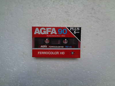 Vintage Audio cassette AGFA Ferrocolor 90+6 * Rare From 1985 *
