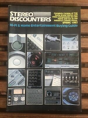 Stereo Discounters Spring 1983 Home Entertainment Hifi Buying Guide Vtg Rare