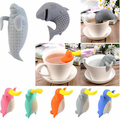 Cute Silicone Animals Shaped Infuser Tea Leaf Strainer Herbal Spice Diffuser